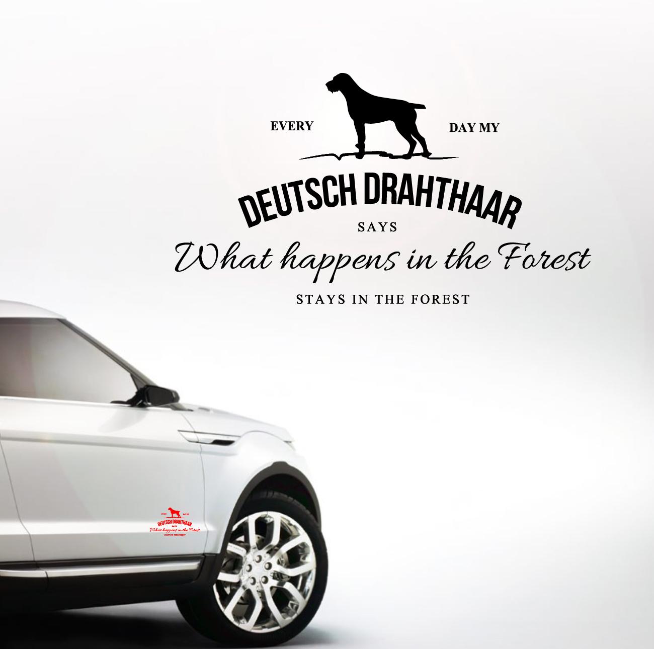 Auto Aufkleber DEUTSCH DRAHTHAAR Vintage Logo Hund Hundeaufkleber ...