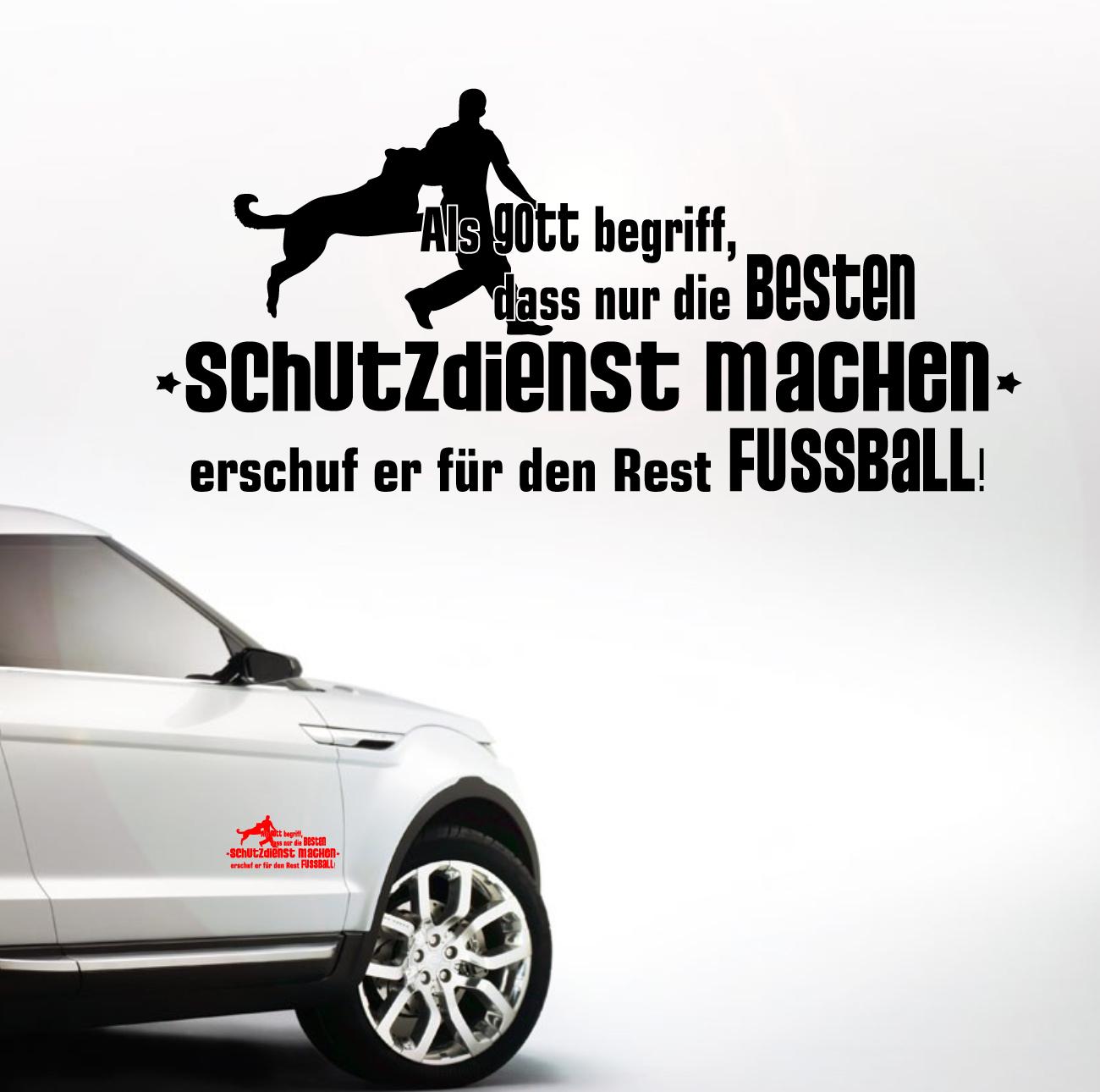 Details Zu Auto Aufkleber Schutzdienst Gott Hundesport Fußball Hund Hunde Siviwonder