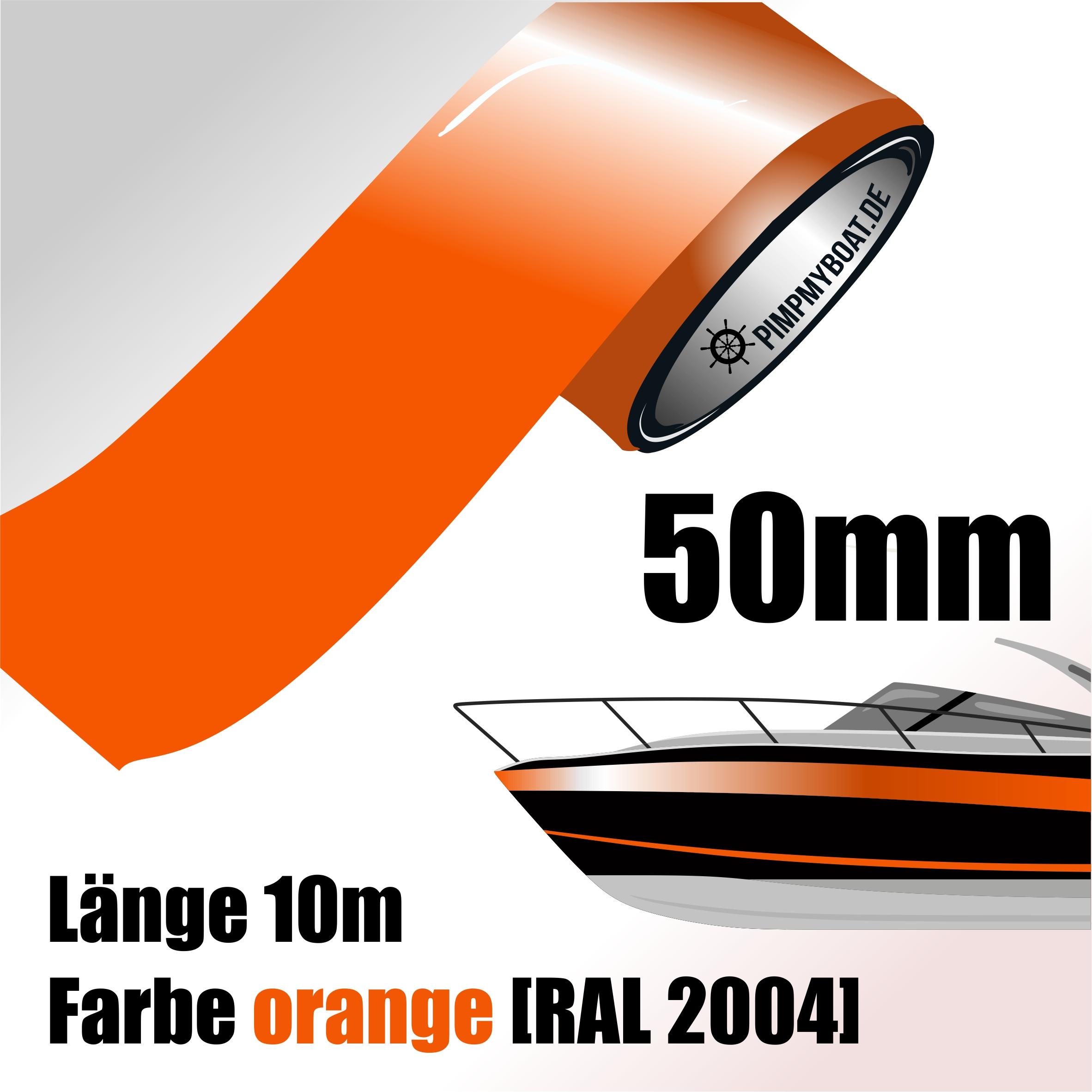 Siviwonder Zierstreifen orange Glanz in 30 mm Breite und 10 m L/änge f/ür Auto Boot Jetski Modellbau Klebeband Dekorstreifen